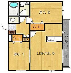 ラブラドール[3階]の間取り