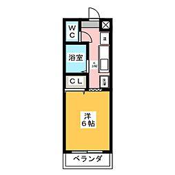 シャトルアラタマ[3階]の間取り