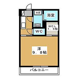 仮称)堀江1丁目共同住宅新築工事 1階1Kの間取り