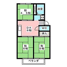 ドミール野田 B棟[2階]の間取り