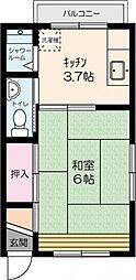 埼玉県ふじみ野市上福岡2丁目の賃貸アパートの間取り