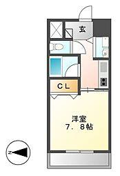 AXIS桜通内山[13階]の間取り
