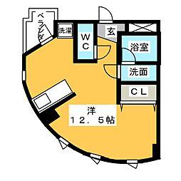 ミクニハイツIII[3階]の間取り