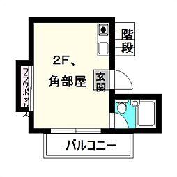 エステー生田2[103号室]の間取り