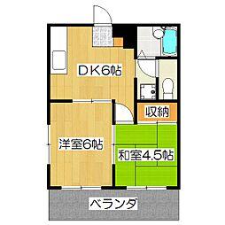 レジデンス桃山[1階]の間取り