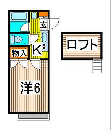 埼玉県さいたま市南区南浦和3の賃貸アパートの間取り