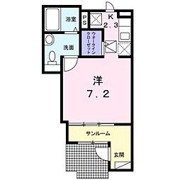 ユアーズ ヒル 7[1階]の間取り