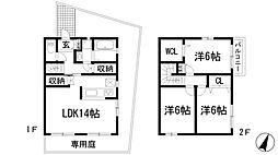 [テラスハウス] 兵庫県宝塚市山本中2丁目 の賃貸【/】の間取り