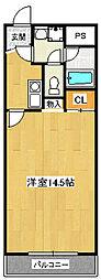 ユニハイム[2階]の間取り