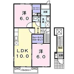 カサブランカ弐番館[2階]の間取り