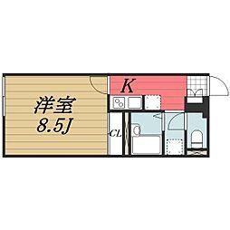 京成本線 京成成田駅 バス22分 三里塚小学校前下車 徒歩6分の賃貸アパート 2階1Kの間取り