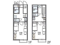 レオパレス折立[2階]の間取り