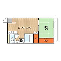 Mプラザ菱江[5階]の間取り