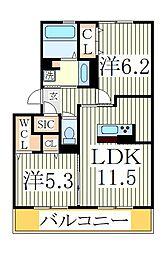 仮)オッツ市野谷[2階]の間取り