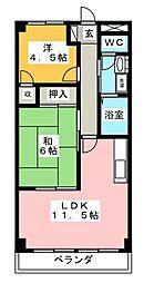 D-room ラークグリーンヒル[2階]の間取り