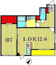 東京都葛飾区青戸7丁目の賃貸アパートの間取り