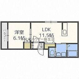 LUCY HOUSE[ルーシーハウス] 4階1LDKの間取り