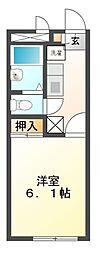 兵庫県姫路市神屋町3丁目の賃貸アパートの間取り