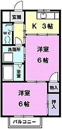 Y´s house[103号室]の間取り