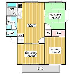 MMホーム[101号室]の間取り