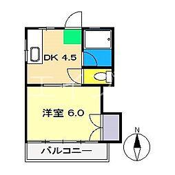 カスタムハイツ山下[2階]の間取り