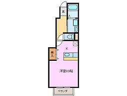 三重県亀山市布気町の賃貸アパートの間取り
