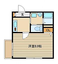 東京都西東京市中町2丁目の賃貸アパートの間取り