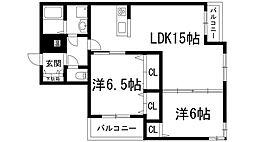 シャーメゾンカストル[3階]の間取り