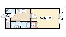 愛知県名古屋市天白区土原3丁目の賃貸マンションの間取り