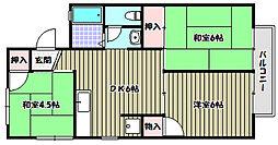 アーク久野喜[2階]の間取り