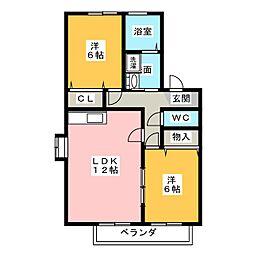 エスポワール新瑞[2階]の間取り