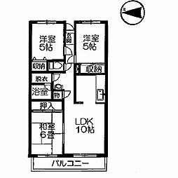 コーポ青木[2階]の間取り