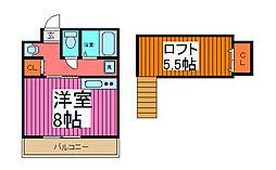 コートアネックスR-1[1階]の間取り