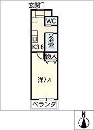 A−city港本宮[4階]の間取り