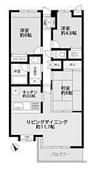 オーベル鶴川1号棟[2階]の間取り