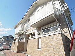 東京都町田市鶴川5丁目の賃貸アパートの外観