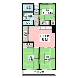 本町住宅[4階]の間取り