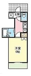 神奈川県川崎市麻生区多摩美2丁目の賃貸アパートの間取り