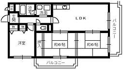 メルベーユ和泉[6階]の間取り