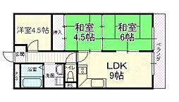UTOPIA KASHIWARA(ユートピア柏原)[305号室号室]の間取り