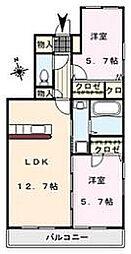 MIMOSA COMFORT[103号室]の間取り