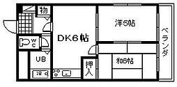 プレジデントハイツ東岸和田[403号室]の間取り