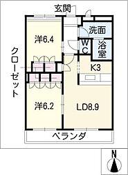 アバンサール[2階]の間取り
