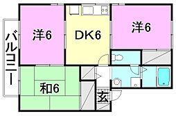 プランドール・K[202 号室号室]の間取り
