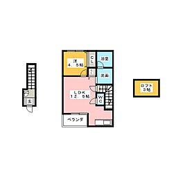 Diamond square[2階]の間取り
