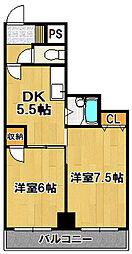 アメニティ千島[3階]の間取り