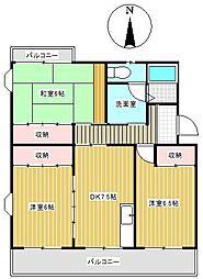 メゾン東栄B棟[205号室]の間取り