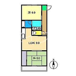 カーサNAKANO[2階]の間取り