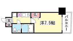 SERENiTE三宮[606号室]の間取り