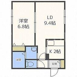 北海道札幌市豊平区月寒西一条7丁目の賃貸マンションの間取り
